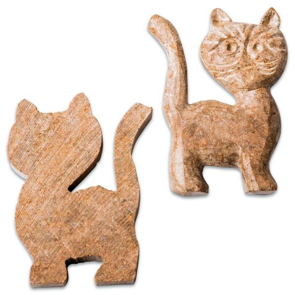 Speckstein-Rohlinge ca. 5x7cm 10 St. Katze Farbe zufällig