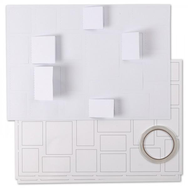 Adventskalender Karton 30x42cm 5 St. blanko inkl. doppelseitigem Klebeband, 11-teilig