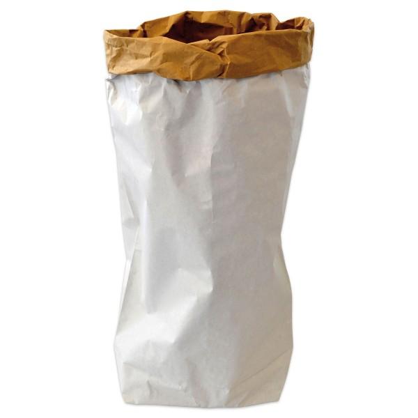 Papiersack 45x85x16cm innen natur/außen weiß mit Boden