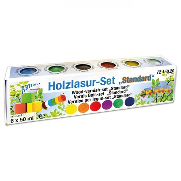 Holzlasur Set 6 Farben à 50ml Standard