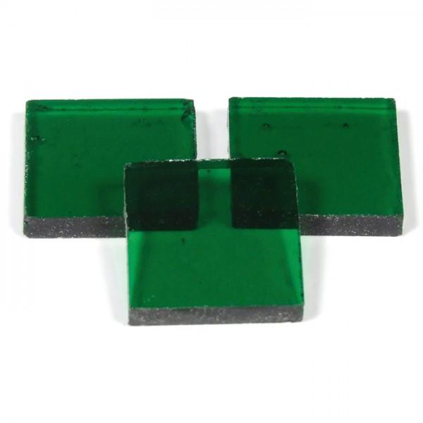 Tiffany-Glasmosaik 10x10x4mm hochtransp. smaragd 200g, ca. 300 Steine