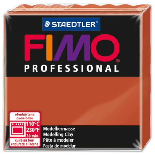FIMO professional 55x55x24mm 85g terrakotta ofenhärtende Modelliermasse