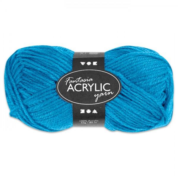 Fantasia Acryl-Wolle 50g türkis 100% Polyacryl, für Nadel Nr. 4
