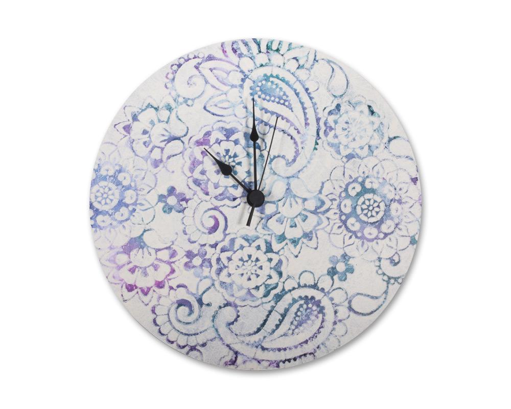Keilrahmen-Uhr