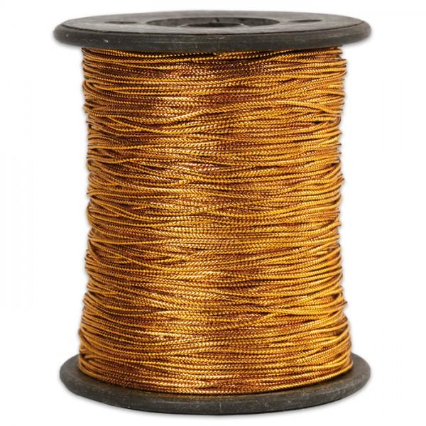 Anhängerband 0,5mm 100m glänzend goldfarben 100% Polyester