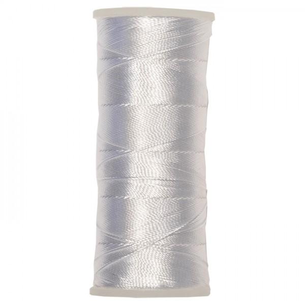 Nylongarn 0,35mm 25g ca. 300m weiß zum Häkeln und Fädeln, 100% Nylon