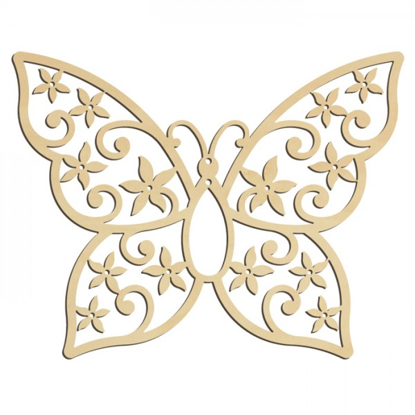 Schmetterling 4 Holz 3mm ca. 157x124mm natur