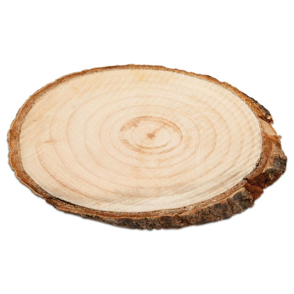 Holzscheiben mit Borke 110x75x8mm 12 St. natur