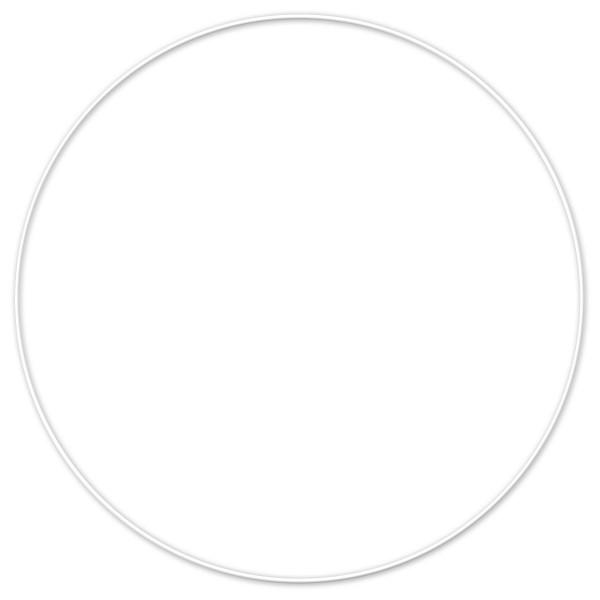 Metallring/Drahtring rund weiß 3mm Ø 40cm
