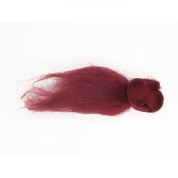 Kammzugwolle Merino 1.000g dunkelrot 100% Wolle vom australischen Merinoschaf, max. 19mic