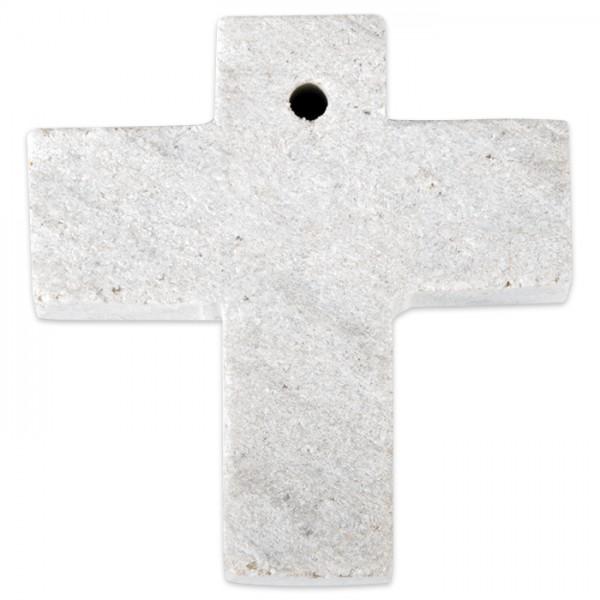 Kreuz Speckstein 40x30x10mm Farbe zufällig weiß, rosa oder schwarz