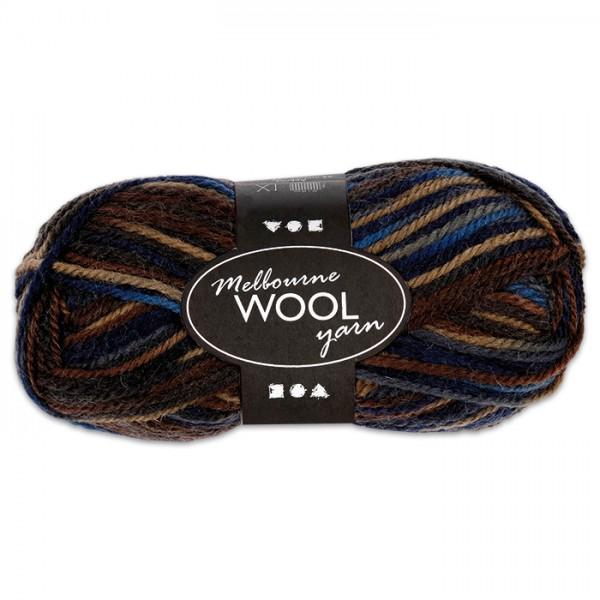 Garn Melbourne Filzwolle 50g blau-grau 100% Wolle, LL 92m, Nadel Nr. 4