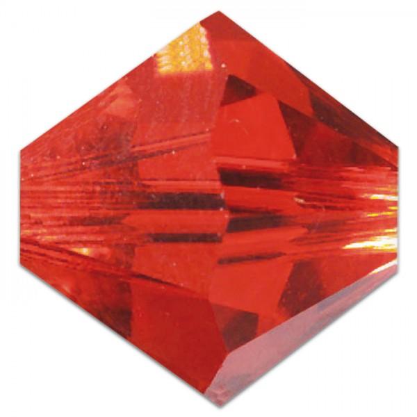Glasschliffperlen 6mm 12 St. light siam Swarovski, Lochgr. ca. 0,9mm