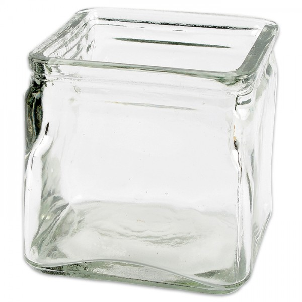 Windlichtglas quadratisch 10x10x10cm