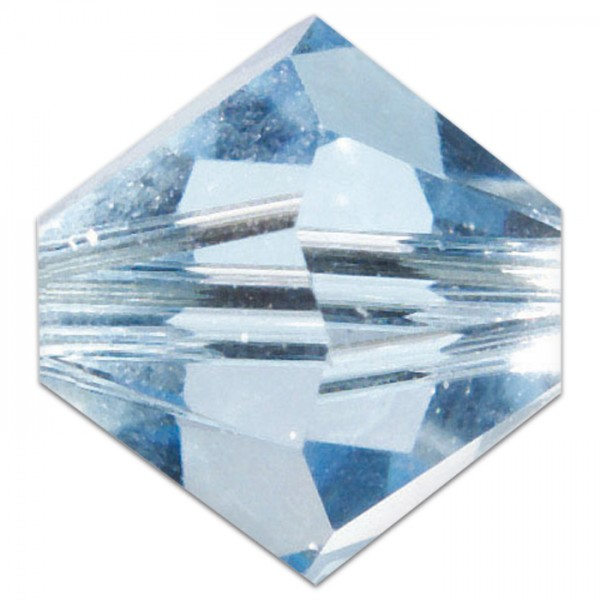 Glasschliffperlen 4mm 25 St. aqua Swarovski, Lochgr. ca. 0,9mm