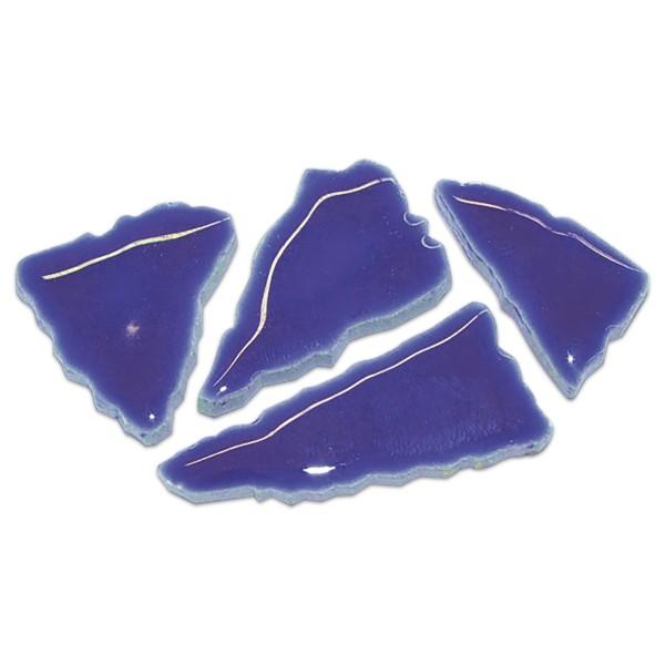 Flip-Keramik 2-6cm 3kg ca. 260 Steine kobaltblau ca. 6,5mm
