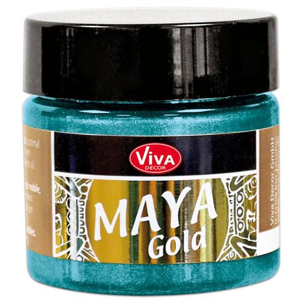 Maya-Gold Dekorfarbe flüssig 45ml türkis