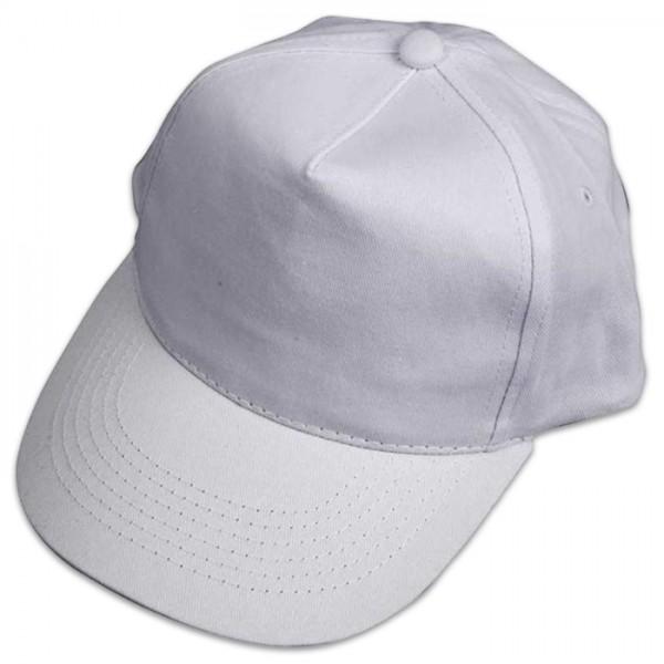 Baseball-Cap 49,5-56cm weiß 100% Baumwolle