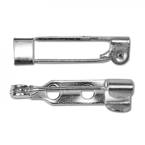 Broschennadeln Metall 20mm lang 8 St. versilbert
