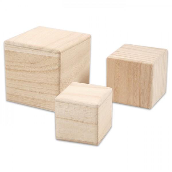Holzwürfel Stapelset 5/6/8cm 3 St. natur