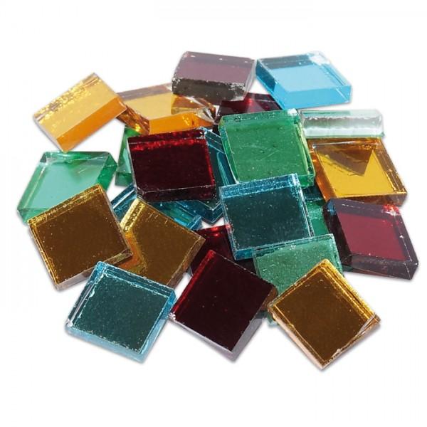 Spiegelmosaik 10x10mm 125g ca. 170 Steine bunt mix 3-4mm