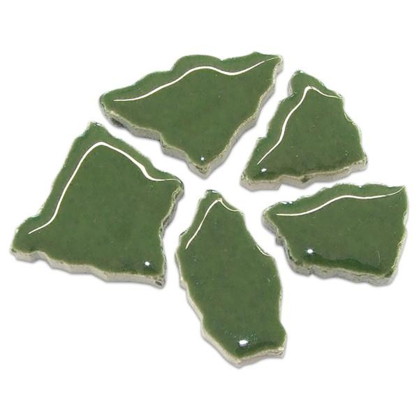 Flip-Keramik 2-6cm 3kg ca. 260 Steine moosgrün ca. 6,5mm