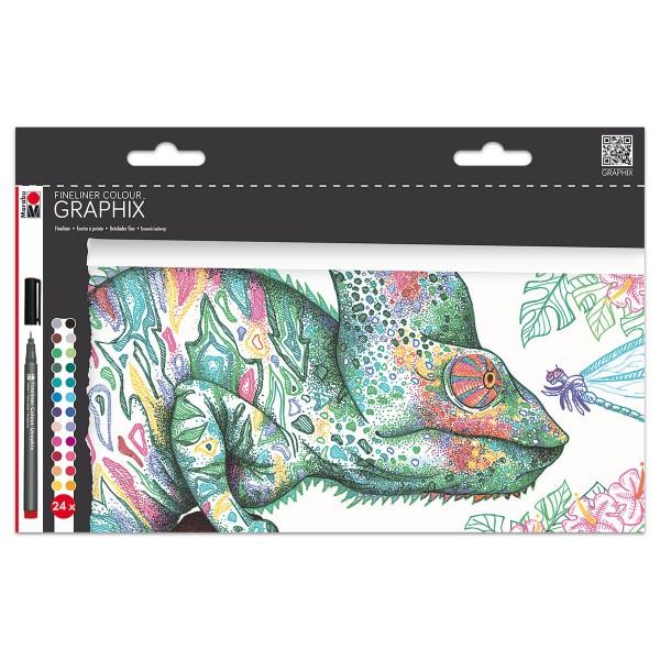 Fineliner Colour Graphix Strichbreite 0,5mm 24 St.