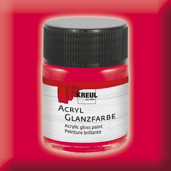 Acryl-Glanzfarbe 50ml dunkelrot