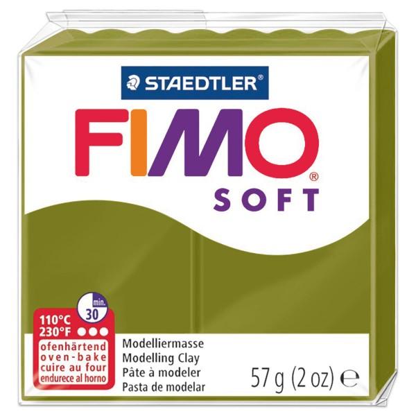 FIMO soft 55x55x15mm 57g grüne olive ofenhärtende Modelliermasse