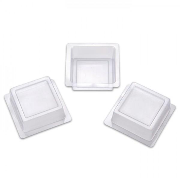 Seifengießformen ca. 65x65x25mm 3 St. quadratisch Kunststoff