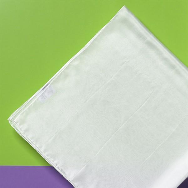 Tuch Seide Pongé 05 110x110cm naturweiß 100% Seide