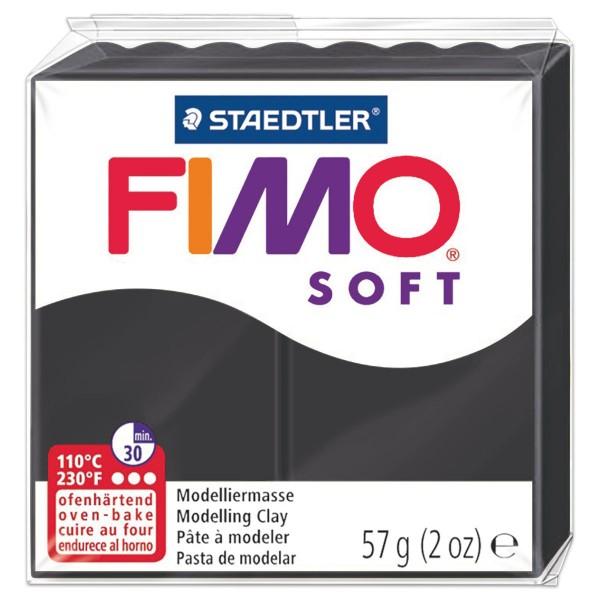 FIMO soft 55x55x15mm 57g schwarz ofenhärtende Modelliermasse