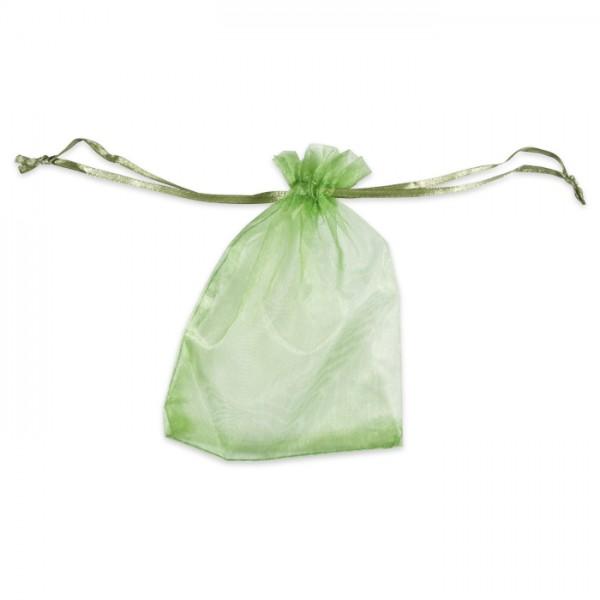 Organza-Säckchen 10x13cm hellgrün Polyester