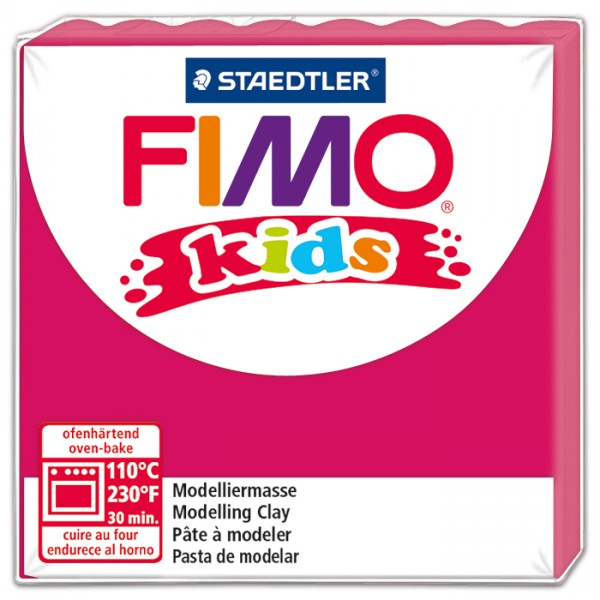 FIMO kids 55x55x10mm 42g pink ofenhärtende Modelliermasse
