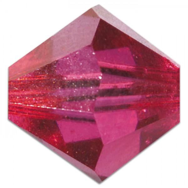 Glasschliffperlen 6mm 12 St. fuchsia Swarovski, Lochgr. ca. 0,9mm