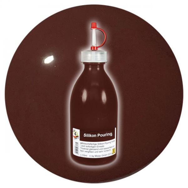 Just4Art Silikon Pouring Farbe 250ml umbra natur mit Spritzdüse