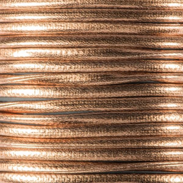 Metallic-Kordel Synthetik 2mm 2m dunkelbraun