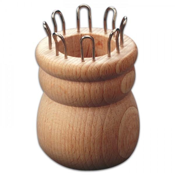 Strickliesel mit 8 Haken Holz/Metall