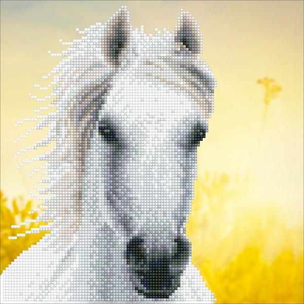 Diamond Dotz 30,5x30,5cm Weißes Pferd