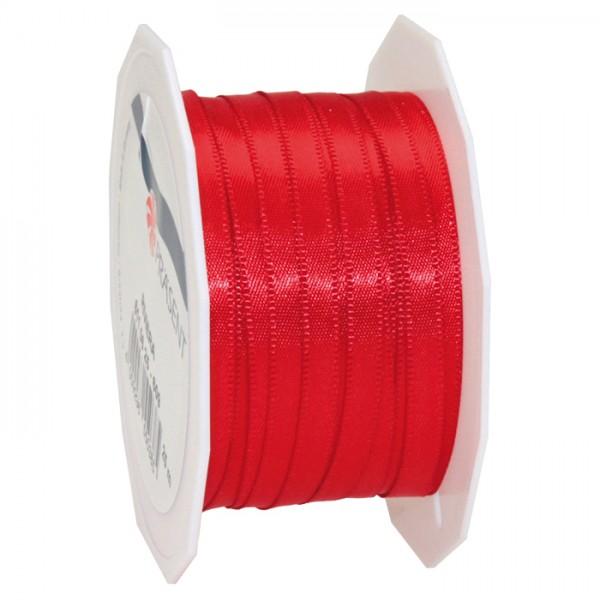 Satinband 10mm 25m rot 100% Polyester