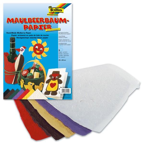 Maulbeerbaumpapier 100g/m² 25x38cm 5 Bl./Farben