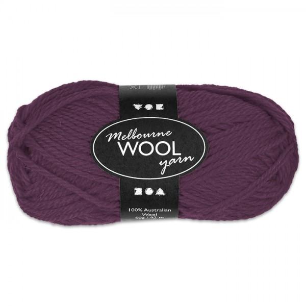 Garn Melbourne Filzwolle 50g lila 100% Wolle, LL 92m, Nadel Nr. 4