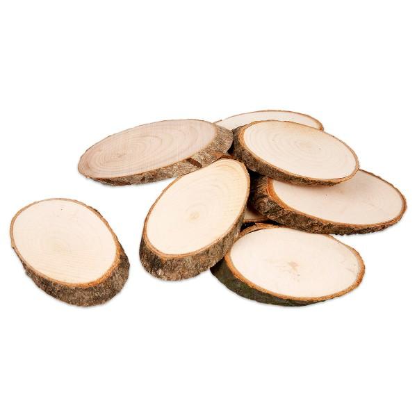 Holzscheiben mit Borke 75x45x8mm 20 St. natur
