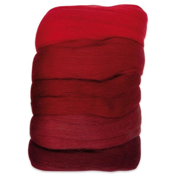 Kammzugwolle Merino 50g rotton 100% Wolle vom südamerikanischen Merinoschaf