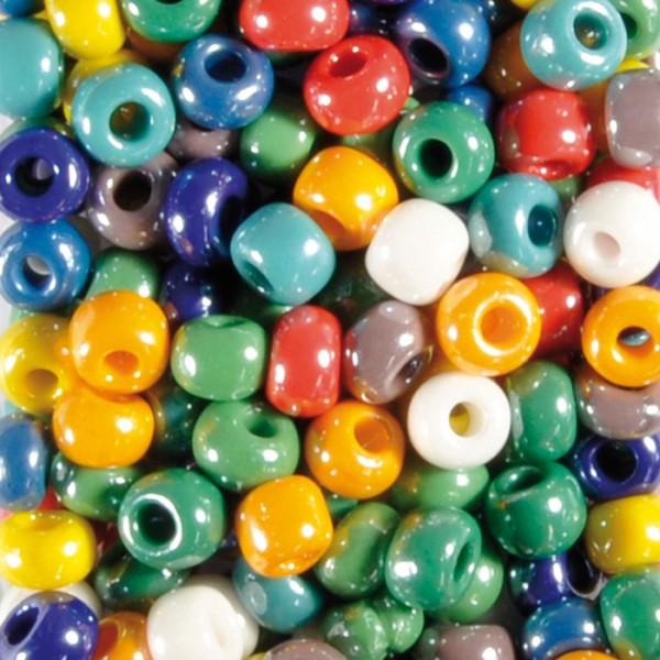 Glasperlen Rondelle satt AB ca. 8,5mm 100g mix Lochgr. ca. 2,6mm