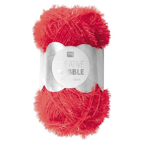Creative Bubble Wolle 50g ca. 90m neonpink Nadel Stricken Nr. 2, Häkeln Nr. 4, 100% Polyester