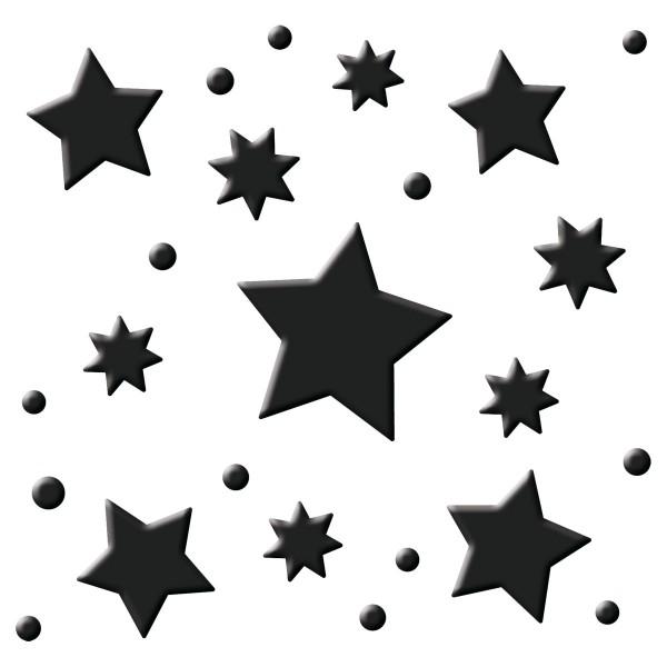 Flexi-Motivstanzer ca. 4cm Sterne Kunststoff/Metall, für Papiere bis 220g/m²
