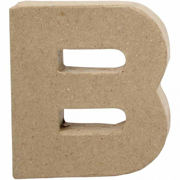 Buchstabe B Pappmaché ca. 78x100x20mm