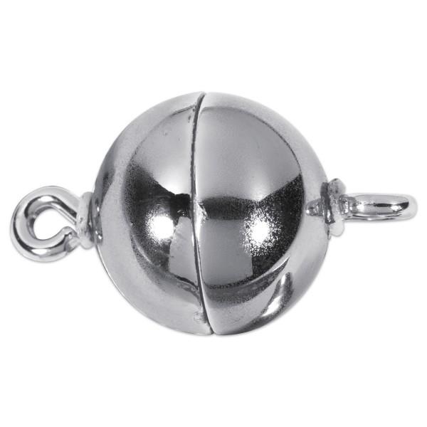 Magnetverschluss Metall rund Ø 8mm platinfarben Lochgr. ca. 1mm