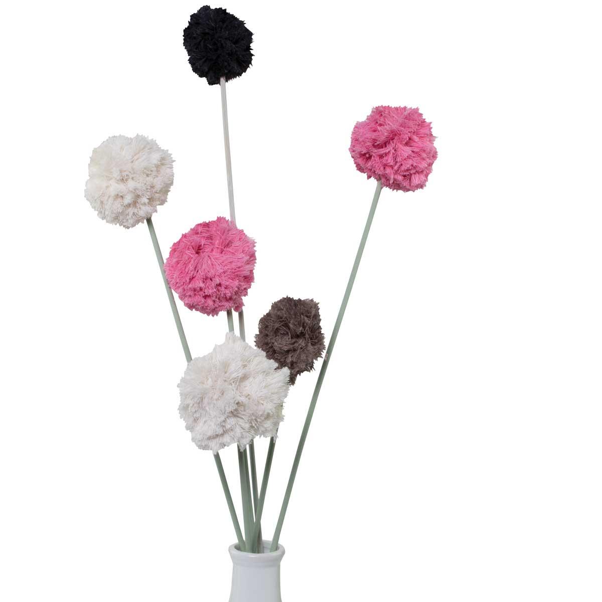 Dekorative Pompon-Blumen